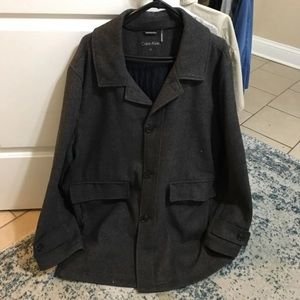Calvin Klein oversized wool pea coat